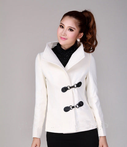 Turtleneck Female Korean Trench Coat