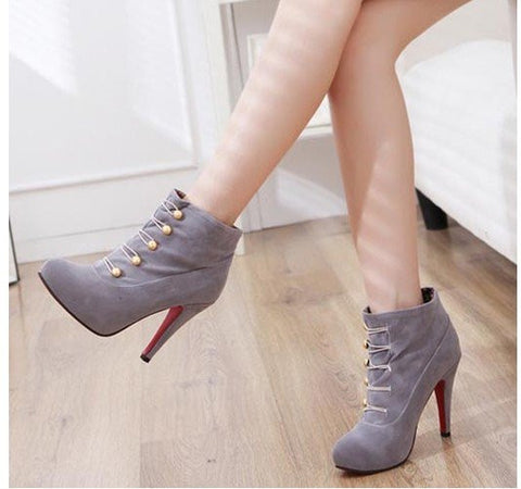 Sexy Narrow Width Ankle Height High Heel Boot – 3 Colors