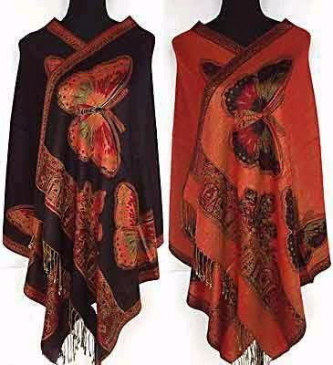 Silk Two-Face Reversible Butterfly Printed Scarf