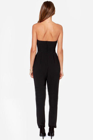 Solid Pockets Decorated Regular Fit Full Length Jumpsuits