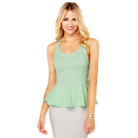 Solid Bow Decorated Regular Length Slim Chiffon Tank Tops
