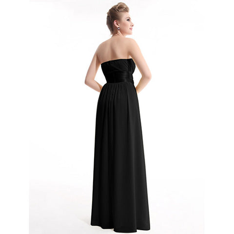 Sexy Strapless High Waist Floor-Length Bridesmaid Dresses - 15 Colors