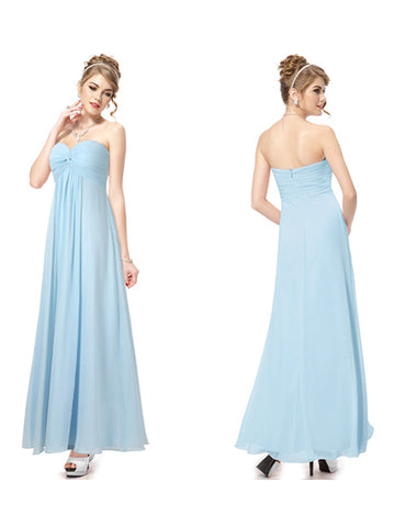Elegent Strapless Sweetheart Neck Ankle-Length Party Dress