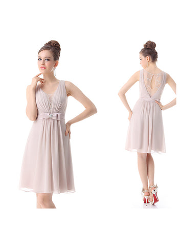 Short Sleeveless Sweety Rhinestone Dress