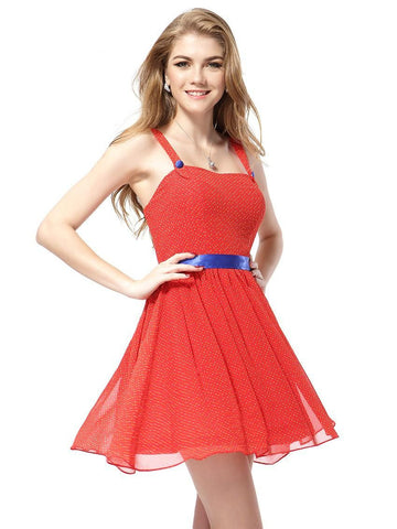 Sexy Chiffon Mini Sleeveless Casual Dress