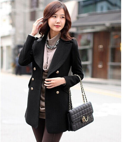 Turn-down Collar Double Breasted Trench Coat