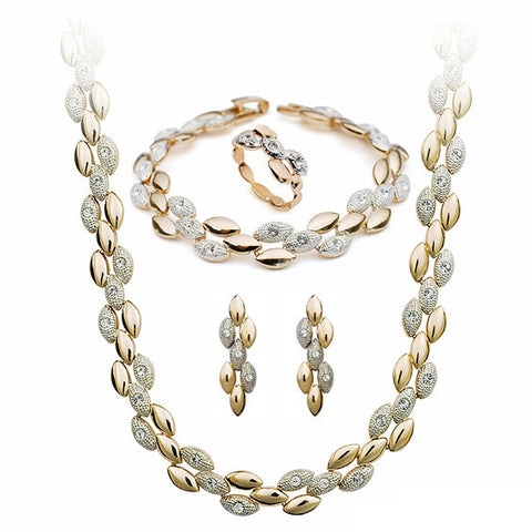 Wheat Series With Austrian Crystal Stellux Jewelry Set