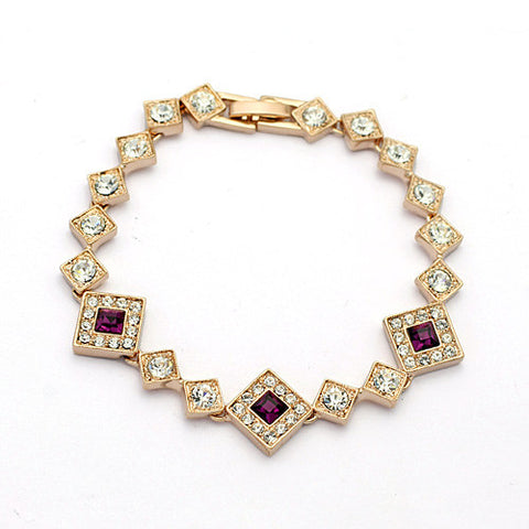 18K Rose Gold Plated With Austrian Crystal Stellux Rigant Elegant Bracelet Pulseiras
