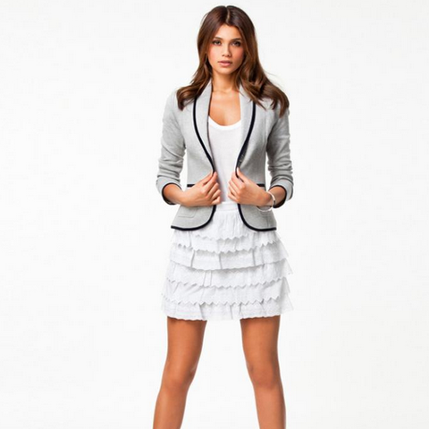 Short time-collar blazer