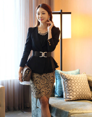 High-Waist Sexy fashion Slim lace pencil skirt