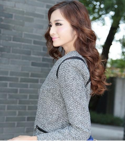 Slim long sleeve PU leather patchwork knitted women blazer