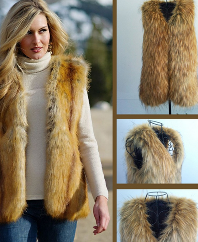 Fur Vest longhaired Outdoor Large Size Bras