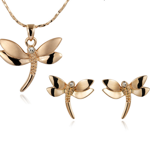 DragonFly With Austrian Crystal Stellux Utopia JewelrySet