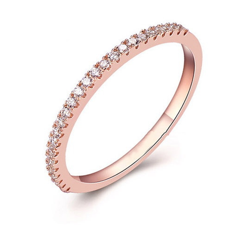 18K Rose Gold Plated With Austrian Crystal Stellux Valentine's Day Ring