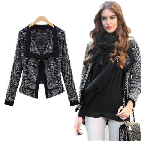 V-Neck Lace Knitting Jacket Outerwear