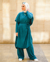 Wool Pants Set - Teal
