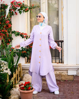 Long Blouse Set-Lilac