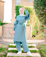 Flared Pants Set-Teal
