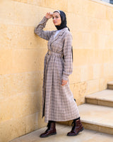 Double Buttoned Dress-Beige