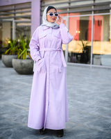Maxi Safari Shirt-Lilac