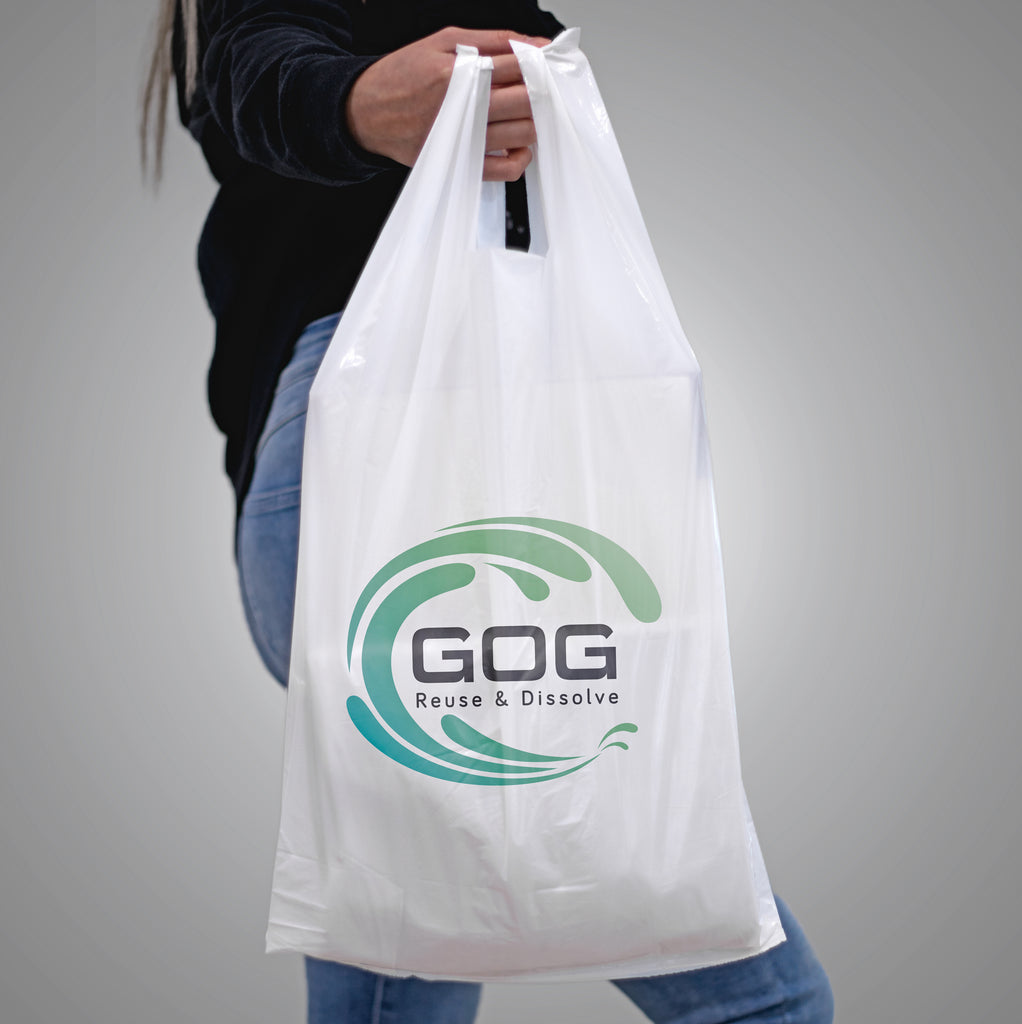 Water-soluble T-shirt bag