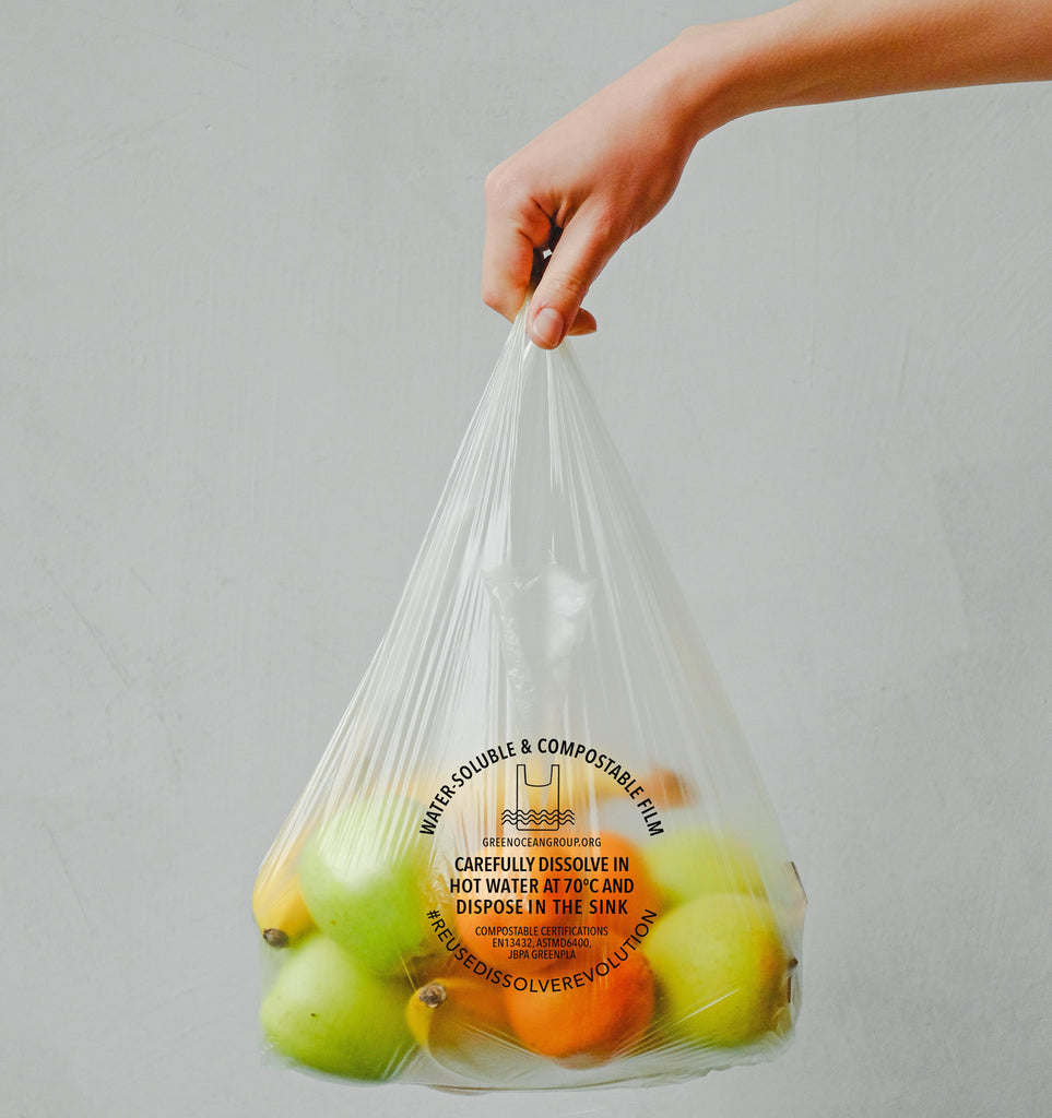 Water-soluble Produce Bag with handles