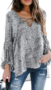 Cheetah Print Blouse