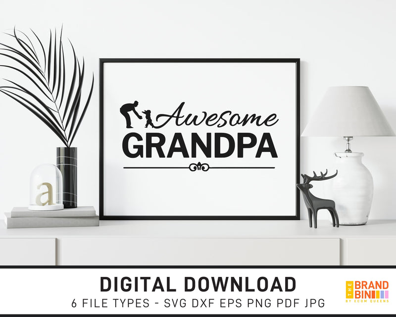 Awesome Grandpa - SVG Digital Download