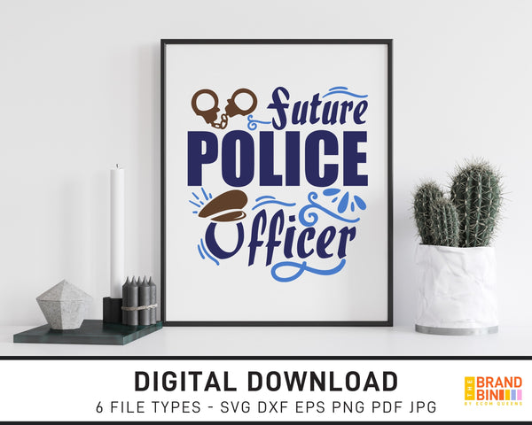 Future Police Officer - SVG Digital Download