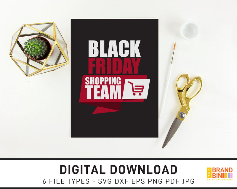 Black Friday Shopping Team 2 - SVG Digital Download