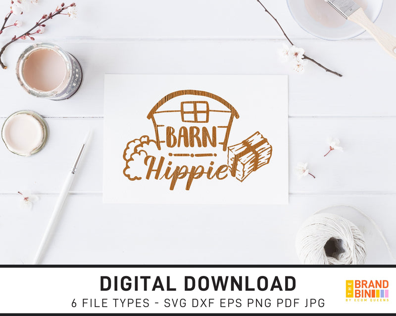 Barn Hippie - SVG Digital Download