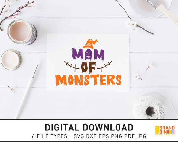 Mom Of Monsters - SVG Digital Download