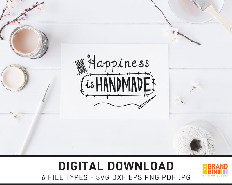 Happiness Is Handmade - SVG Digital Download