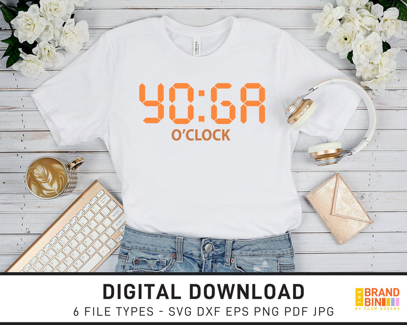 Yoga O'Clock - SVG Digital Download