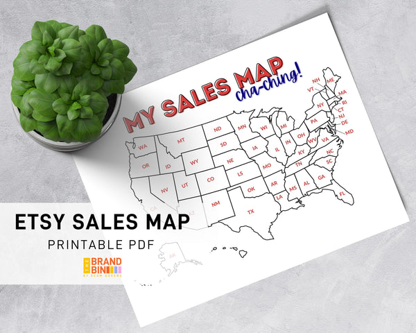 Etsy Sales Map Printable