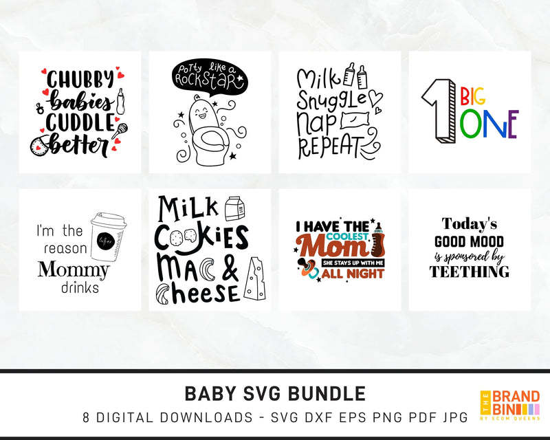 Baby SVG Bundle Digital Designs
