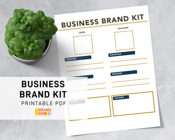Business Brand Kit Printable