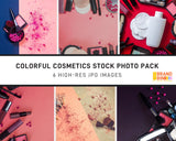 Colorful Cosmetics Stock Photo Pack