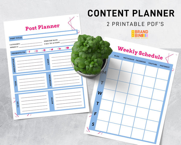Content Planner Printable