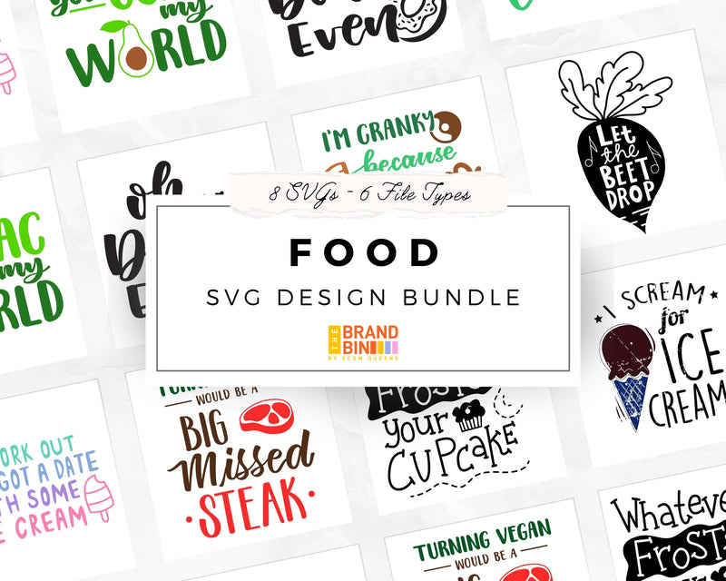 Food SVG Bundle Digital Designs