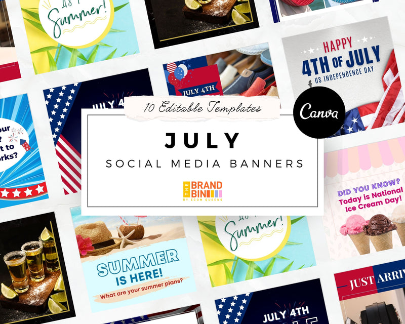 July Social Media Banners