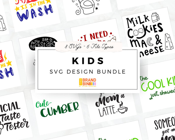 Kids SVG Bundle Digital Designs