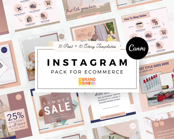 Instagram Template Pack For ECommerce (Posts + Stories)