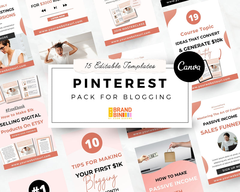 Pinterest Template Pack for Blogging & Business