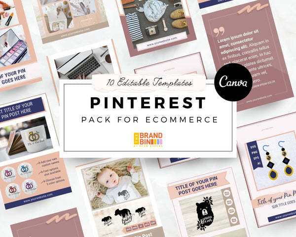 Pinterest Template Pack for eCommerce Sellers
