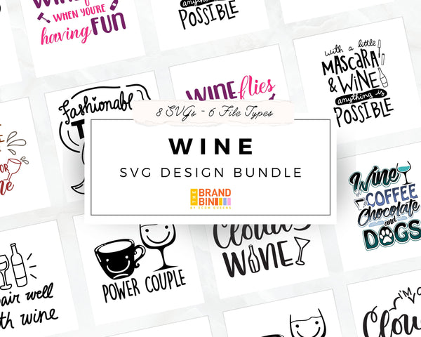 Wine SVG Bundle Digital Designs