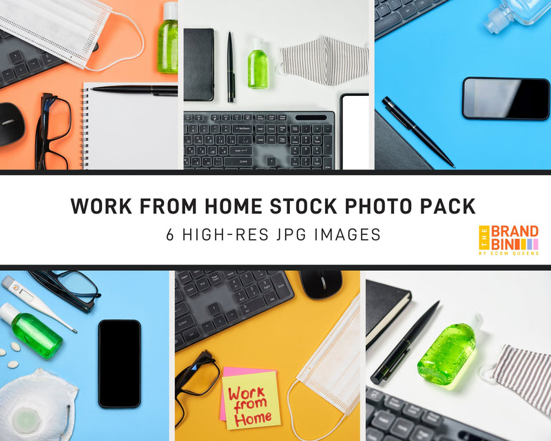 Work From Home Stock Photo Pack