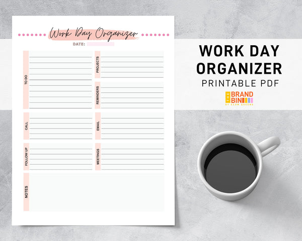 Work Day Organizer Printable