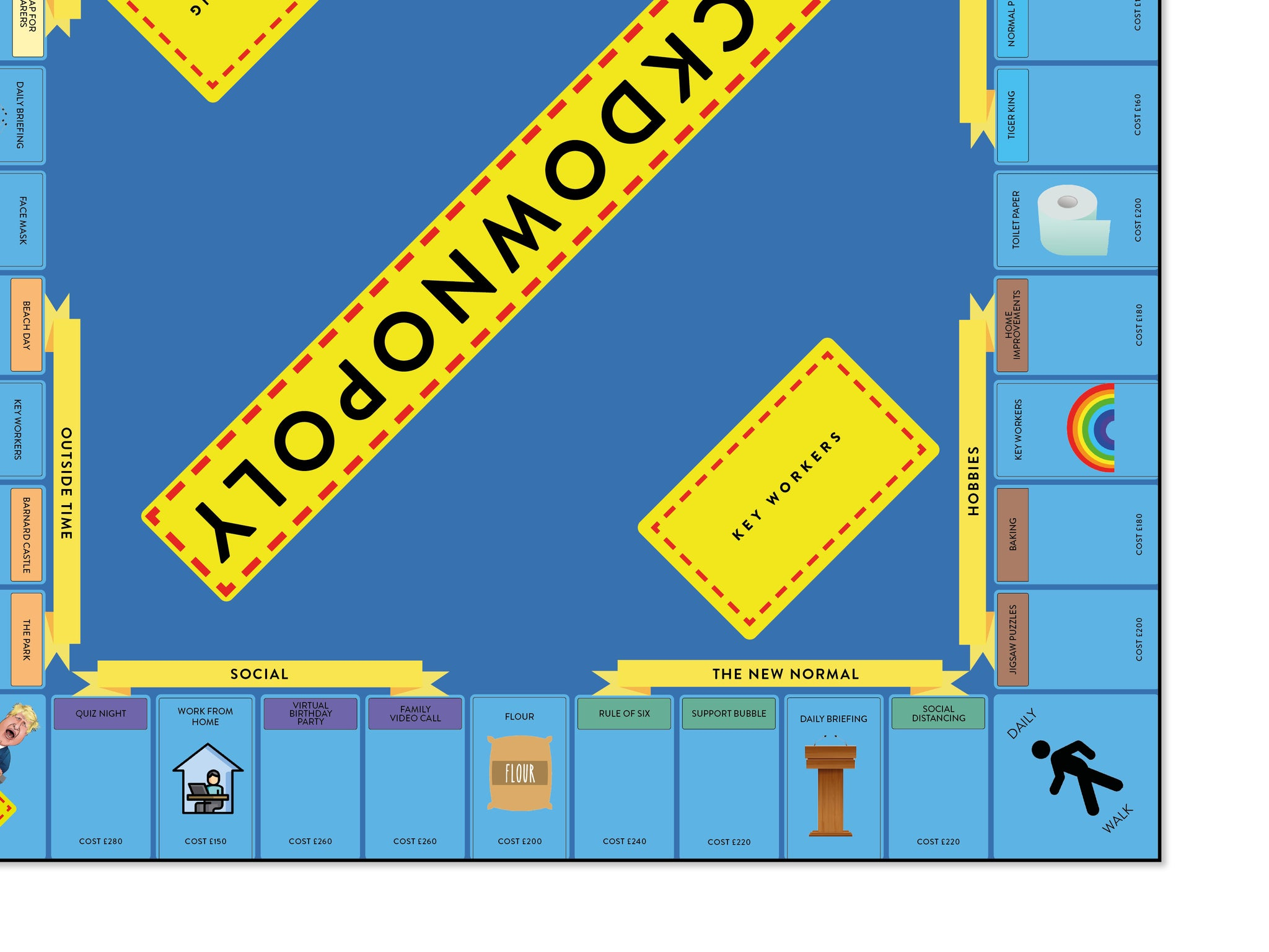 Lockdown-opoly Board Game