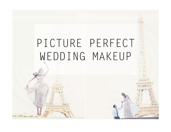 Beautiful wedding makeup on bride in Paris